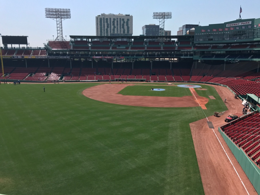From on top of the Green Monster.