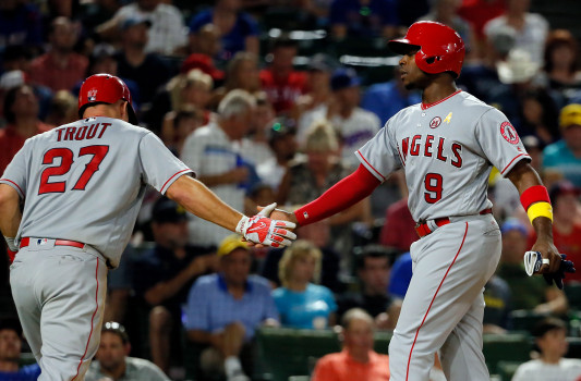 Mike Trout, Justin Upton