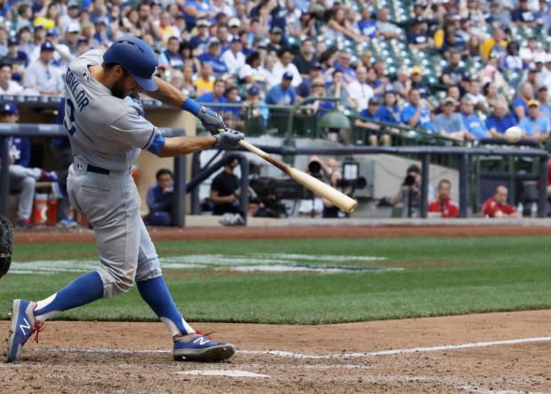 Dodgers Brewers Baseball
